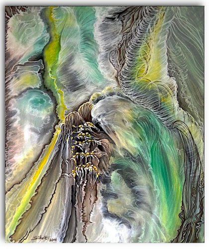 Acrylgemälde Smaragdgrüner Traum