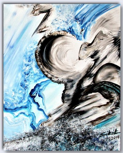 Acrylgemälde Zorn der Götter